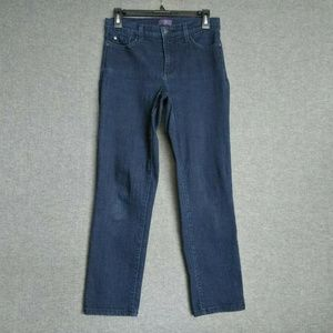 NYDJ Crop Georgia Skinny M59Z1217 Dark Wash